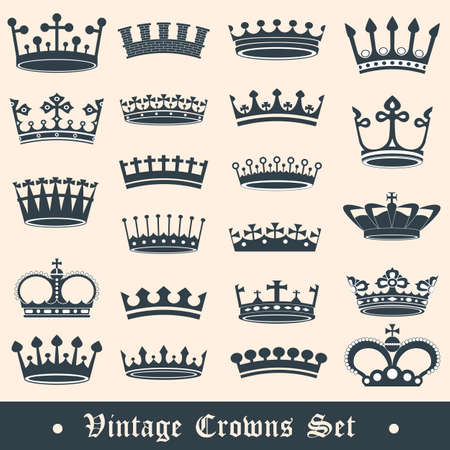 Vintage crowns set