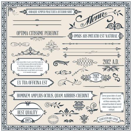 書道のデザイン要素やページ装飾
