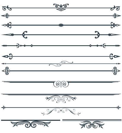 fretwork: Page decoration set Illustration