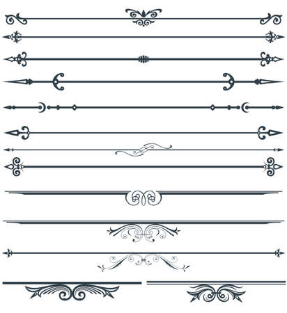 Page decoration set Vettoriali