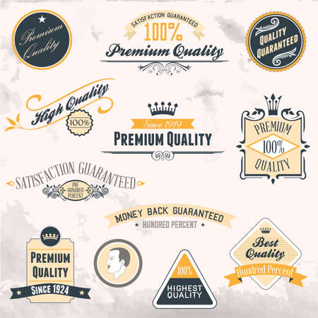 Premium Quality and Guarantee Labels collection