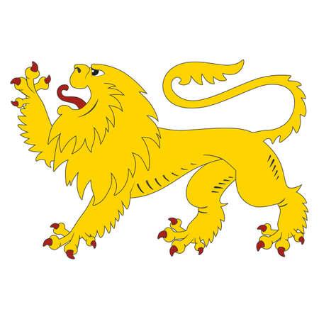 heraldic lion Illustration