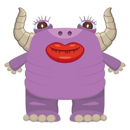 Funny purple monster Stock Vector - 18823886