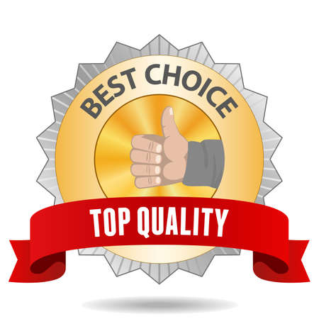 Best Choice sign with red ribbon Vector