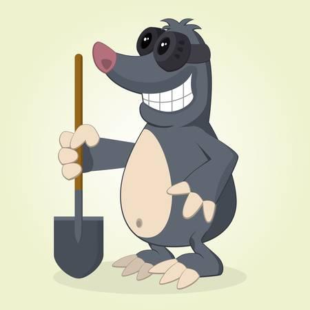 mole: Vector Illustration of Cartoon Mole