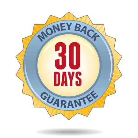 30 Days Money back guarantee badge Stock Vector - 19580639