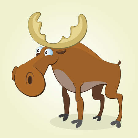 Vector Illustration of Cartoon Moose Vector