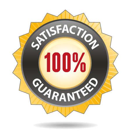 satisfaction guaranteed: Satisfaction guaranteed badge Illustration