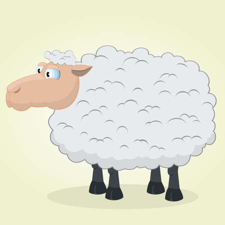 lamb cartoon: Vector Illustration of Cartoon Sheep