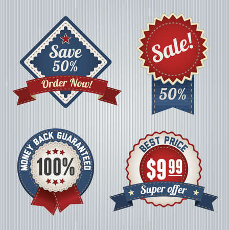 Retro Sale Badges template set  Vintage logo template design