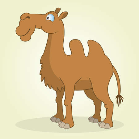 Vector Illustration of Cartoon Camel Vector