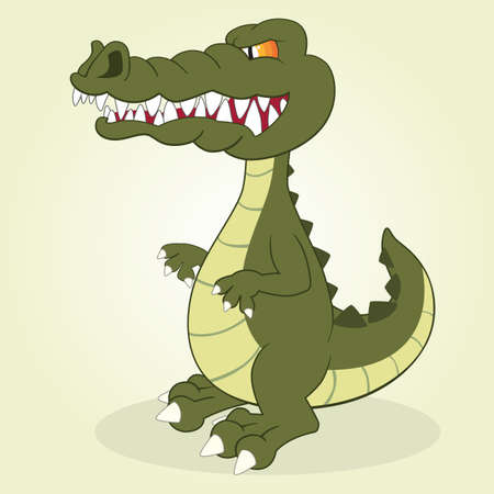 Vector Illustration of Cartoon Crocodile Vector