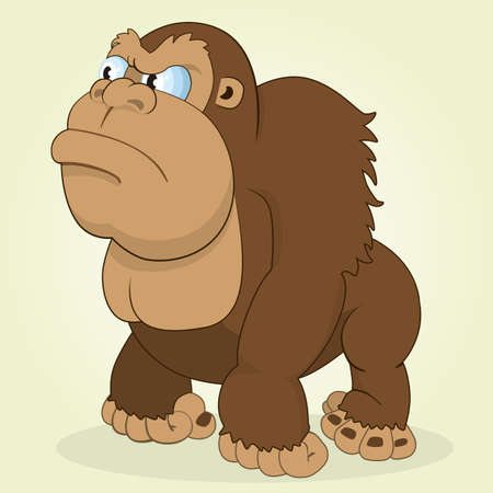 monkey cartoon: Vector Illustration of Cartoon  Gorilla Monkey Illustration