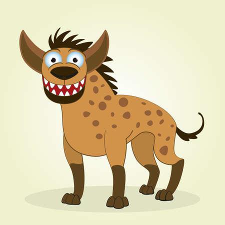 Vector Illustration of Cartoon Hyena Illustration