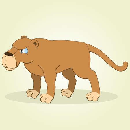Vector Illustration of Cartoon Puma Vector