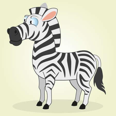cartoon zebra: Vector Illustration of Cartoon Zebra Illustration