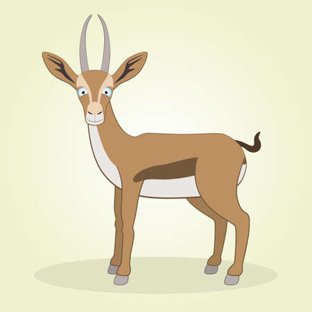 hoof: Vector Illustration of Cartoon Gazelle Illustration