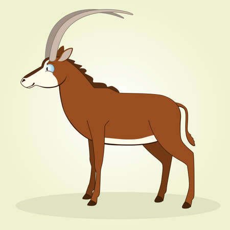 sable: Vector Illustration of Cartoon Sable Antelope