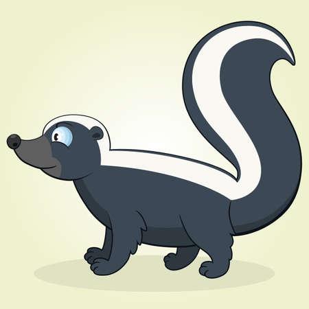 Vector Illustration of Cartoon Skunk Vector