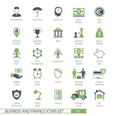 01: Business and FIinance Icons Set 01