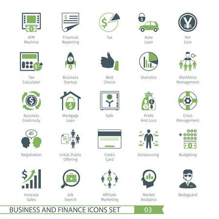 Business and FIinance Icons Set 03 일러스트
