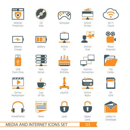 Medios de Comunicación Social y Red Icons Set 03