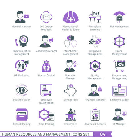 Human resources en management Icons Set 04