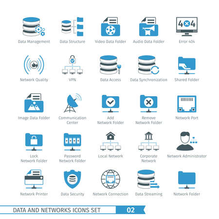 Data And Networks Icon Set 02