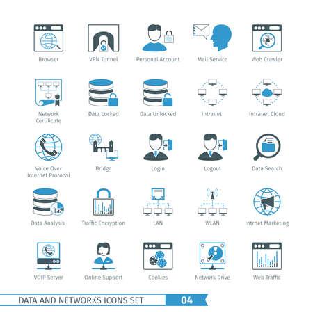 Redes de datos y Icon Set 04