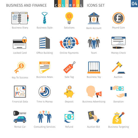 locked icon: Business and FIinance Colorful Icons Set 04