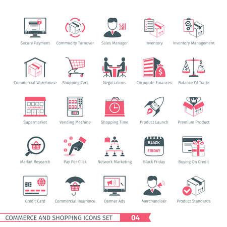 Commerce And Shopping Icons Set 04 Illustration