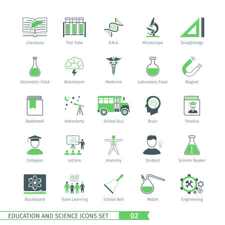 collegian: Education And Science Icons Set 02