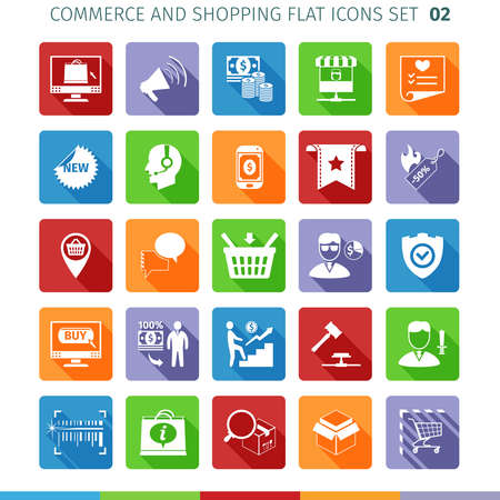 marketer: Commerce And Shopping Flat Icons