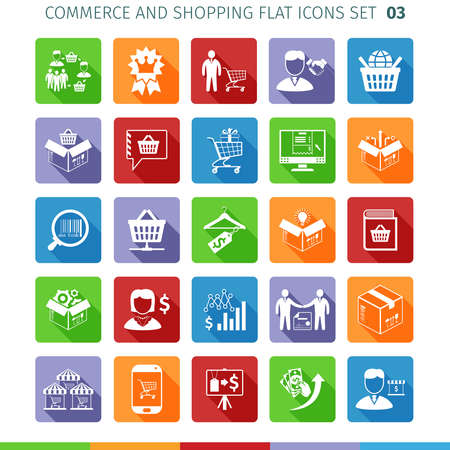 Commerce And Shopping Flat Icons