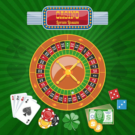 roulette online: Colorful Casino Poster