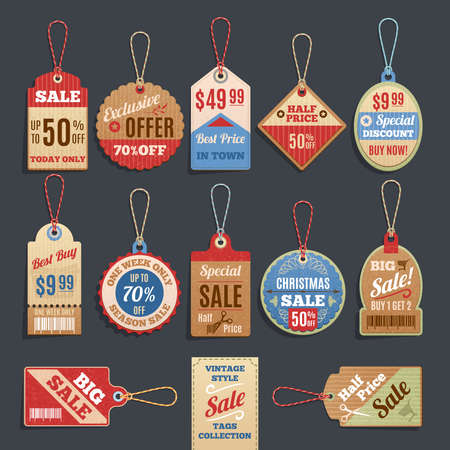 announcement icon: Sale Tags Collection.