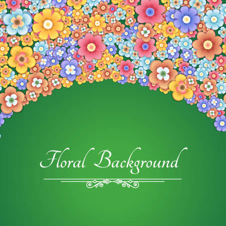 greeting card background: Greeting Card with Flowers. Floral Background. Illustration