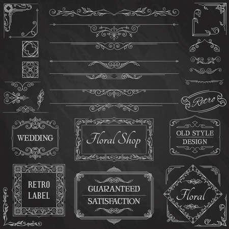 calligraphic design: Vintage Calligraphic Design Elements2