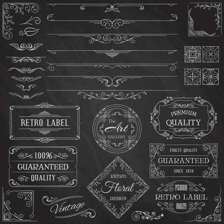 design elements: Vintage Calligraphic Design Elements Illustration