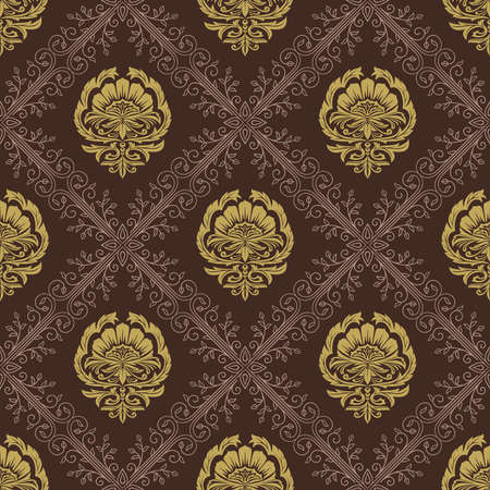 Wallpaper in the Style of Baroque. Seamless Pattern. Elegant Luxury Texture for Textile, Wallpapers, Backgrounds and Wrapping.