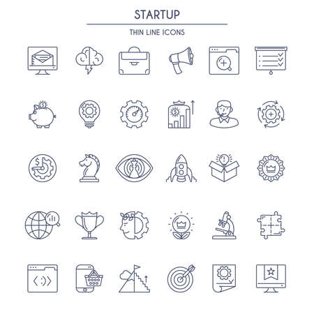 thin: Startup thin line Icons Set. Vector illustration Illustration
