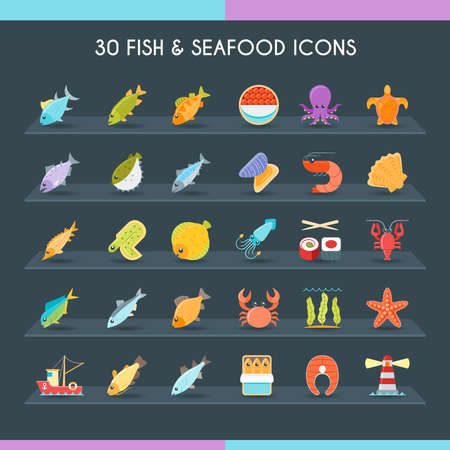 Fish and seafood thin set