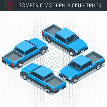 power projection: blue pickup car
