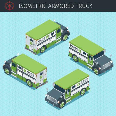 bank armored truck Illustration