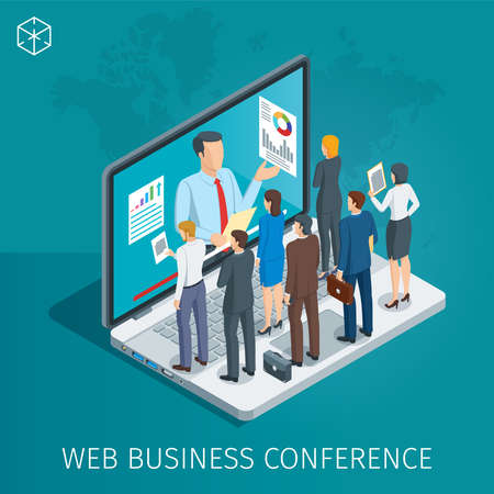 Web Conference banner on plain background.