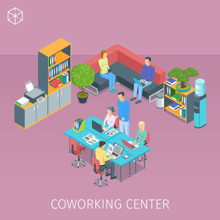 creative people working in coworking centre