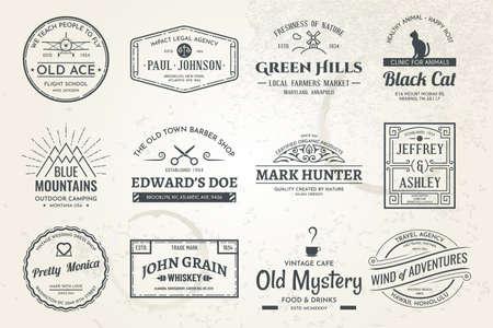 vintage template logos 01