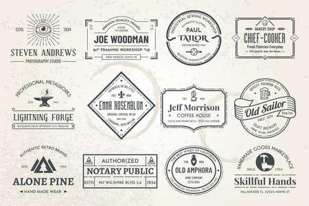vintage template logos 02
