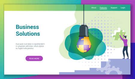 Business solutions flat design concept2