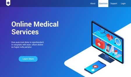 online medical service template